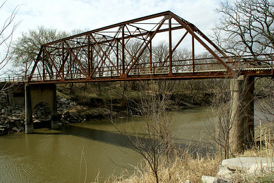 Iron truss bridge over Mill Creek near Maple Hill