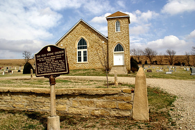 The restored Old Stone Church near Maple Hill