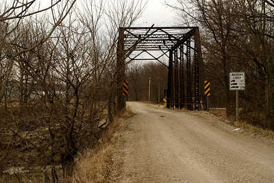 Through truss bridge over Hendricks Creek just north of Alma