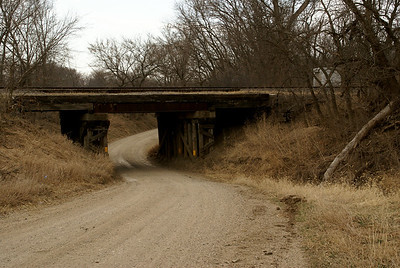 Railroad overpass over Illinois Creek road near West Branch Mill Creek