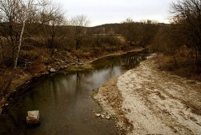 West Branch Mill Creek seen from Volland Road