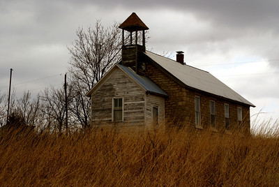 Abandoned school house along Nehring Creek