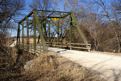 Iron truss bridge over Mission Creek on Wabaunsee / Shawnee county line