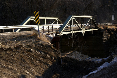 Pony truss bridge over Mission Creek at Echo Cliff