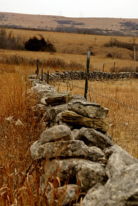 Limestone fence near Nehring Creek north of Hessdale