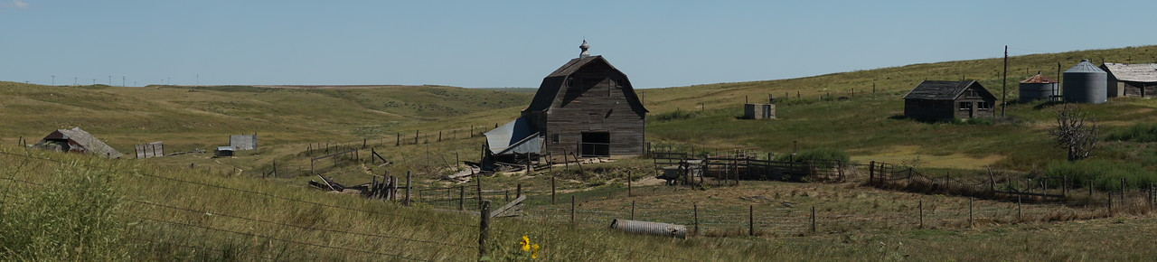 Abandoned Farmstead Panorama