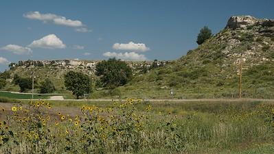 Rocky hillsides near Traer