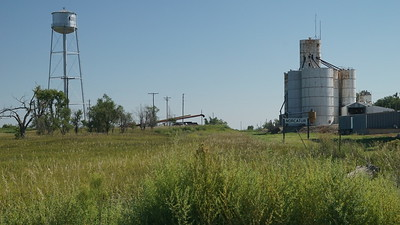 Norcatur water tower and grain elevator