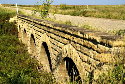 Five arch masonry stone bridge near Victoria