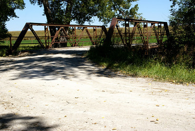 Pony truss bridge over Antelope Creek at Antelope Lake