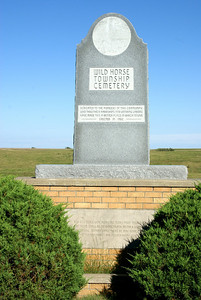 Wild Horse Township Cemetery monument south of Bogue