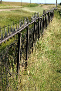 Iron fence at Leland Cemetery - southwest Graham County