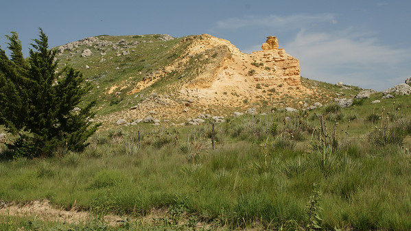 Western face of Lone Butte - southern Logan County