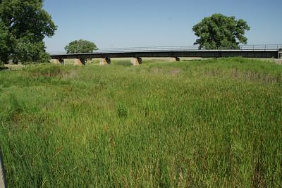 Union Pacific railroad bridge over North Fork Smoky Hill River near McAllaster