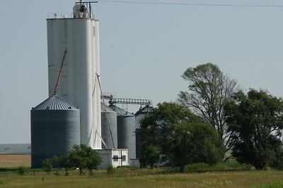 Grain elevator at McAllaster