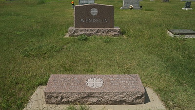 Grave of Rudolph Wendelin at Immanuel Lutheran Cemetery, Ludell