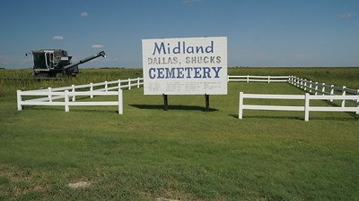 Midland Cemetery along Road 3.
