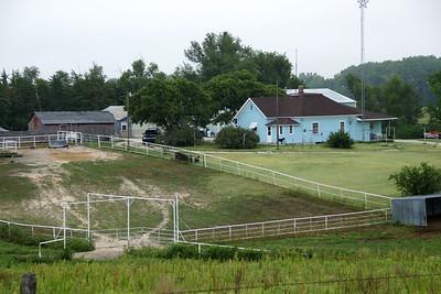 Farm buildings near Sand Creek southwest of Plainville
