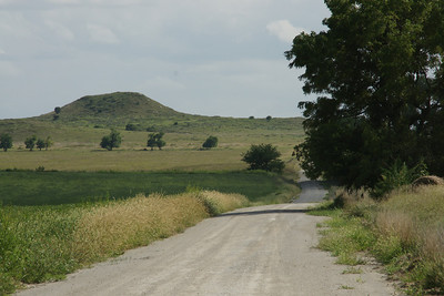 Butte in northern Rooks County