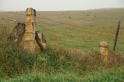 Post rock fence near Olmitz