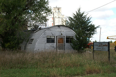 Abandoned building at Hitschmann -  Oil field service town.