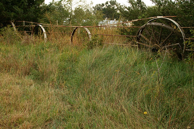 Wagon Wheel Fence west of Great Bend - Barton County