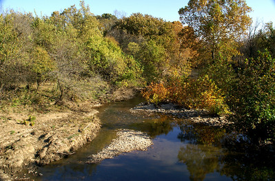Fall color at Rock Creek - far southeast Cowley County
