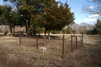 Remote Brookshire Cemetery west of Rock