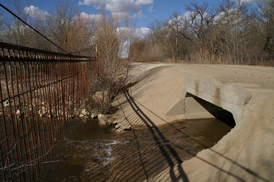 Statler Branch low water bridge east of Rock