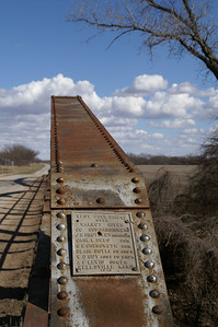 Walnut River Iron Truss bridge west of Rock - built 1928