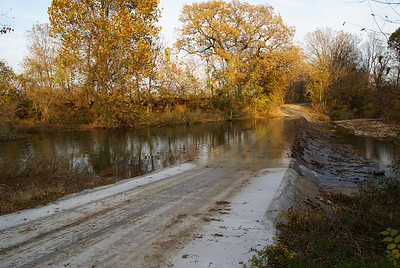Low water bridge over Otter Creek - eastern Cowley County