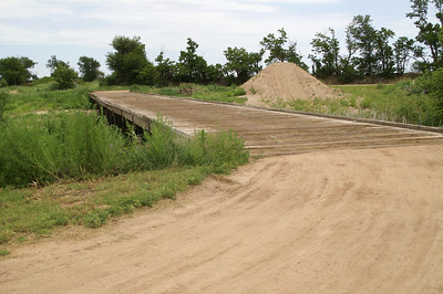Sand Creek wood plank bridge - eastern Harper County