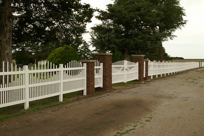Fence around Freeport Cemetery