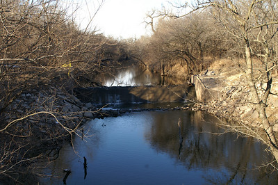 Dam on Little Arkansas River in Harvey County West Park