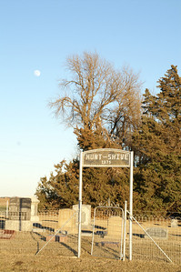 Hunt-Shive cemetery near Patterson - western Harvey County