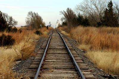 Railroad track near Cunningham