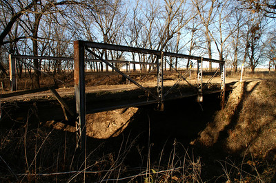 1902 Iron Truss Bridge over North Gypsum Creek - northeast McPherson County