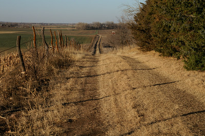 Road up to Smoky Hill Cemetery off Smoky Valley Rd