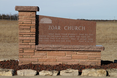 Memorial to Zoar Church at Arrowhead Rd and 7th Ave