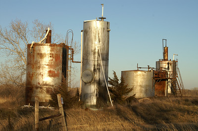 Oil storage tanks along Quivira Rd near 12th Ave