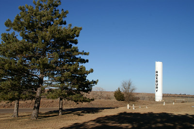 Roxbury water tower and cemetery - northeast McPherson County