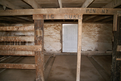 Interior of Thornton Adobe barn - Southeast Pratt County