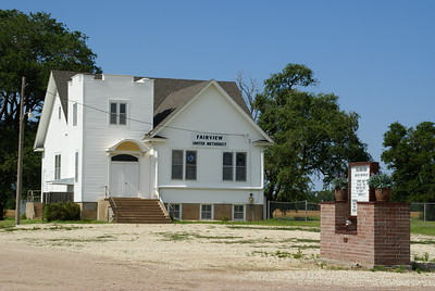 Fairview Methodist Church west of Hutchinson