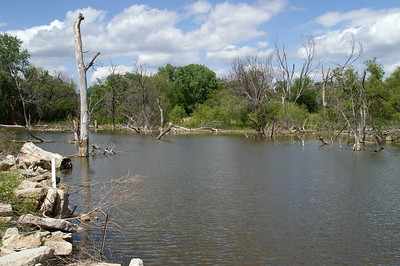 Pond in sand hills northeast of Hutchinson