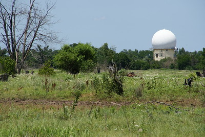Radar dome at former Hutchinson Air Base near Yoder