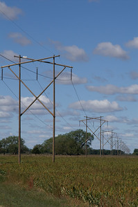 Electrical powerline - southern Rice County