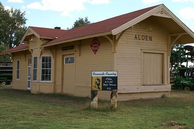 Former Santa Fe railroad depot in Alden