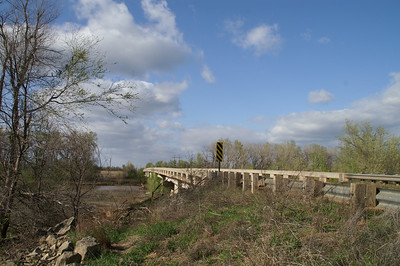 South Fork Ninnescah River bridge - western Sedgwick County