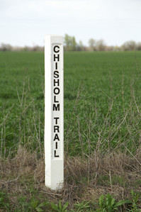 Chisholm Trail Marker near Ridge Road