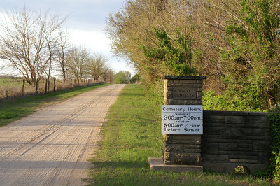 Entrance road into Waco Cemetery - 95th Street South near Broadway